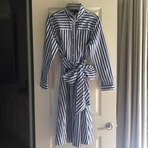 NWT striped shirt dress